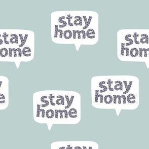 Inspirational text design stay home save lives corona virus design cool blue gray leopard spots