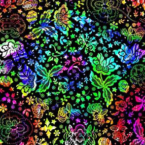 Tie Dye Floral