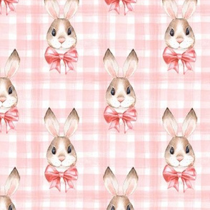 Pink pattern with rabbits
