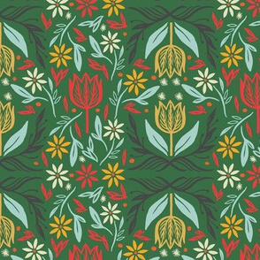 Nordic floral in Green