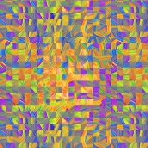 TIE DYE 11 mosaic CHECKERBOARD YELLOW SUMMER PSMGE