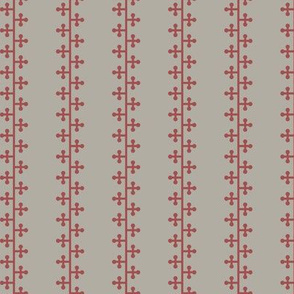 Clover Stripes Red