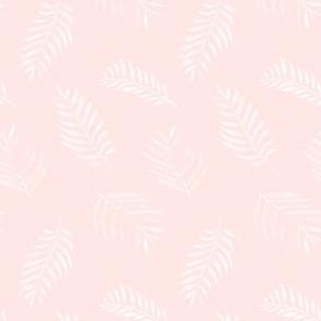 20-03w Boho Fern Leaf Blush pink Ivory Floral