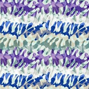 tie dye camo lavender stripe
