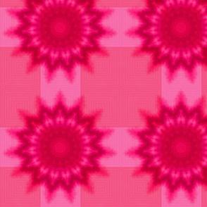 Tie Dye Tartan - Pink