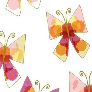 Tie Dye Butterflies