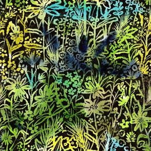Wild Daisies Tie-Dye style