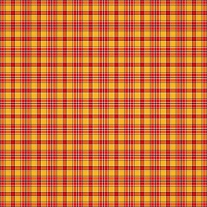 Red Yellow Small Scale Plaid
