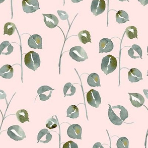 20-03s Vertical Boho Blush Pink Sage Green Leaf