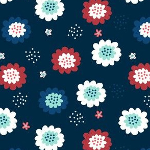 Enchanted Floral-Blue Red