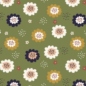 Enchanted Floral-Olive