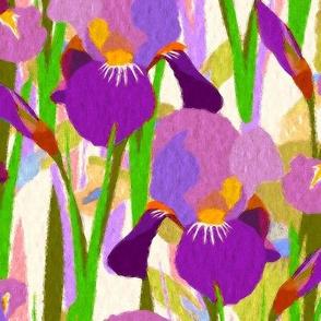 Iris Ivory background