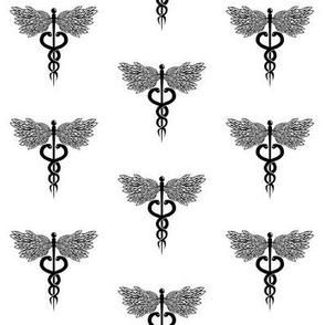 Caduceus Medical Symbol (hand drawn)