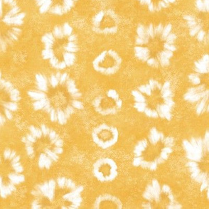 Shibori Saffron Gold Tie Dye by Angel Gerardo