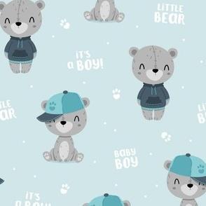 Bear Boy - blue - big