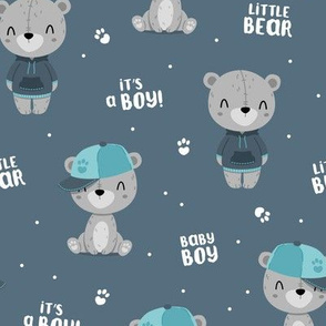 Bear Boy - navy - big
