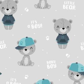 Bear Boy - grey - big
