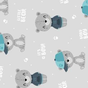 Bear Boy - grey - rotated