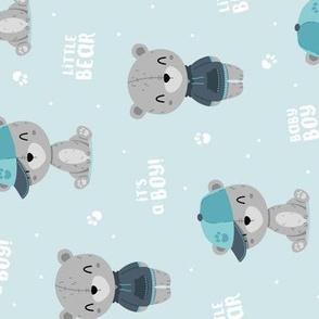 Bear Boy - blue - rotated