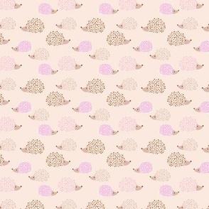 Scandinavian hedgehogs sweet pastel boho hedgehog garden nursery kids design spring summer peach pale pink small