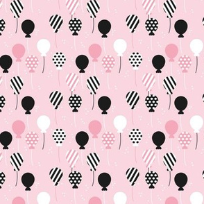 Party balloon fun birthday wedding theme in modern pastel colors pink