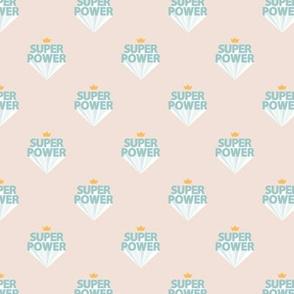 Super power boys nursery empowerment super hero print typography beige mint golden yellow