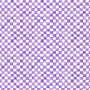 small purple watercolor checkerboard