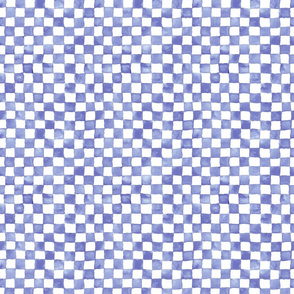 small lavender-blue watercolor checkerboard
