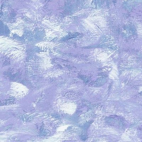 impressionist paint swirls in lavender-blue and white