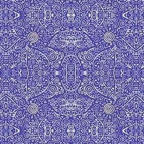 blue-violet and white mehndi