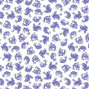 small blue-violet frogs