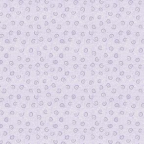 small purple ammonite spirals on crackle