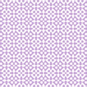 small diamond checker in lavender and white
