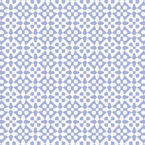 small diamond checker in periwinkle and white