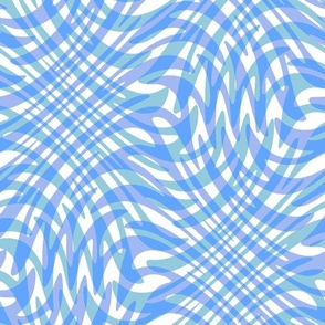 swirling water in blue and white