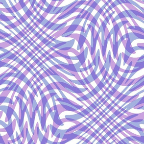 swirling waves in lavender, periwinkle and white