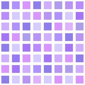 color squares in purple hues