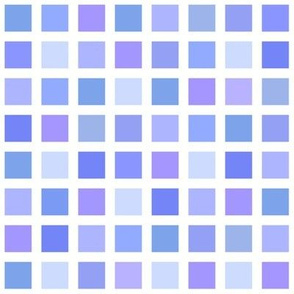 color squares in periwinkle and blue