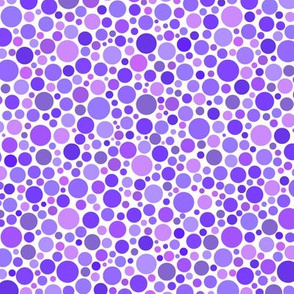 ishihara dots in purple and lavender