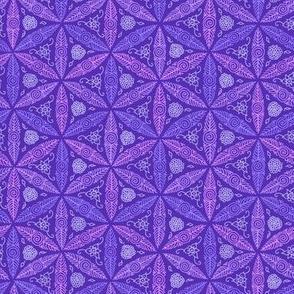 small pysanky in purple