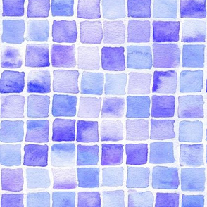 watercolor squares in blue-violet