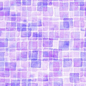 double watercolor squares in purple