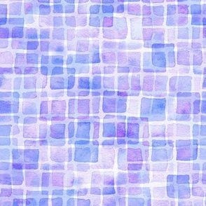double watercolor squares in blue-violet