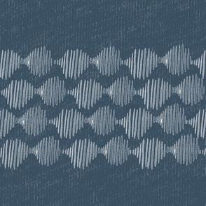 20-03k Boho Abstract Balls Denim Blue texture