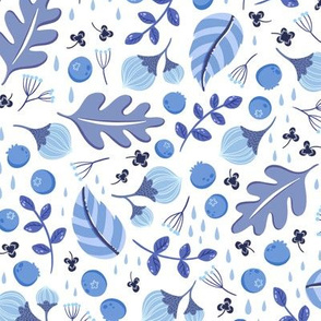 Blue garden - large scale