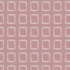 20-03i Boho Frames Dusty Rose Blush Pink