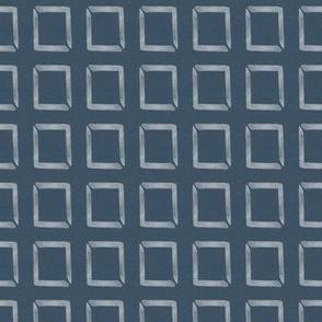 20-03a Boho Frames Denim Blue Geometric Home Decor