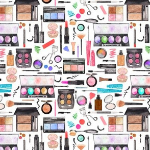 small watercolor makeup beauty products