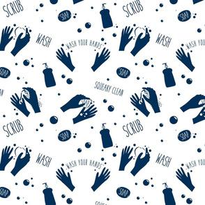 Soap hands navy