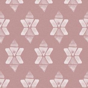20-04ad Boho Star Dusty Rose Blush Pink
